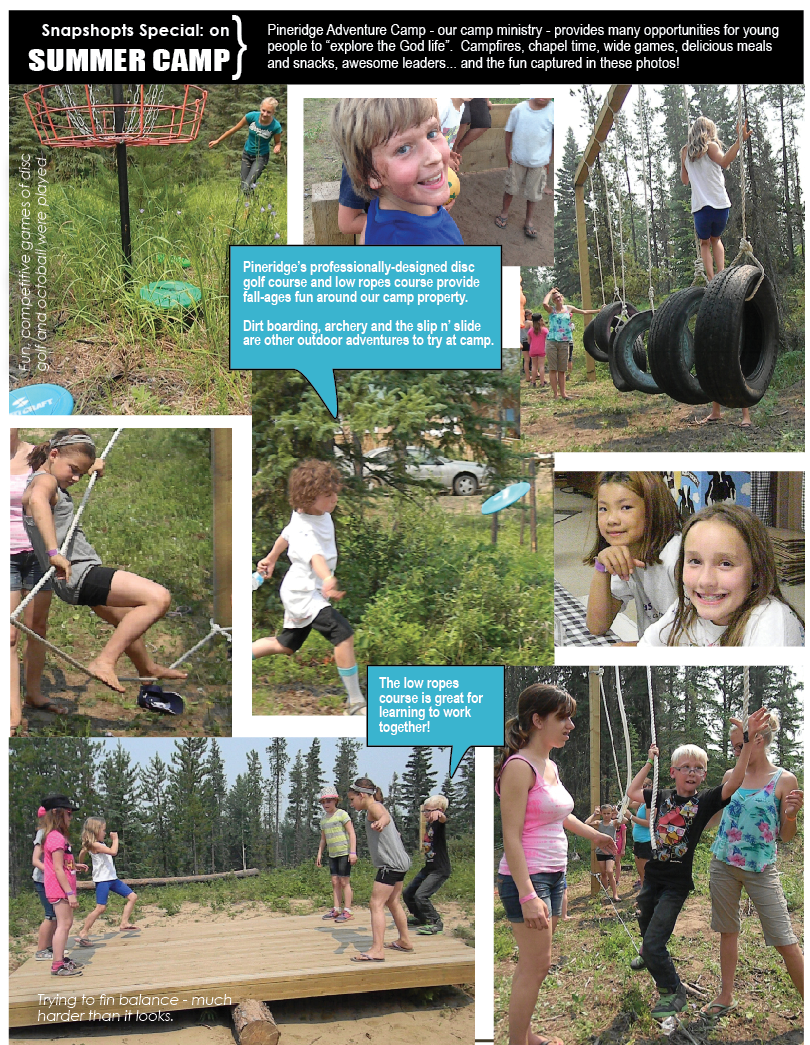 Photo spread from the Summer 2014 Chronicle print edition